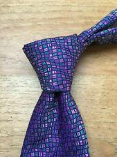 TURNBULL & ASSER Purple Tie, RRP: £135! BNWT,  Handmade in England