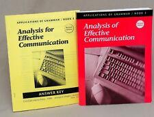 Christian Liberty Press Analysis of Effective Communication Grammar Homeschool