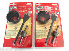 2 VERMONT AMERICAN BY BOSCH WOOD DOOR LOCK INSTALLATION KITS 18382 HOLE SAW KNOB