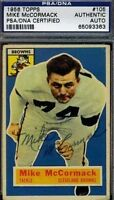 Mike Mccormack Rookie Signed 1956 Topps Psa/dna Certed Autograph Authentic