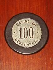 VINTAGE BELGIAN CASINO 100 CHIP TOKEN CASINO DE HERBESTHAL BELGIUM