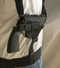 """Rossi 38 2"""" Snubnose   Horizontal Shoulder Holster with Ammo Loops. USA MADE!"""