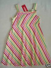 Gymboree CHERRY BABY Multi Stripe Bow Tank Dress NWT 4 Spring Summer