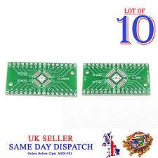 10x 2 lato PCB QFN32 a QFP32 0.8mm/0.65mm Adattatore lato Pin Board PIASTRA IC