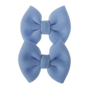 2pcs Ribbon Hair Bows Clip Baby Girsl Kids Colorful Hairpins Hair Accessories