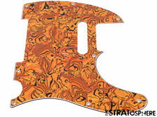 *NEW Gold Abalone Telecaster PICKGUARD for Fender USA Standard Tele 3 Ply 8 Hole