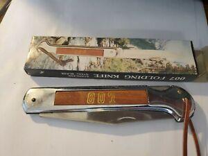 007 KNIFE KNIVES LOCKBACK PLAIN EDGE SINGLE BLADE FOLDING POCKET