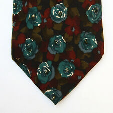 Givenchy Couture Selection 042 Flower Green Pattern Made in Italy 100% Silk VGC