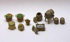 Minishire scenari - 28-32 mm Barili, negozi di alimentari. WARGAMES & RPG, in metallo