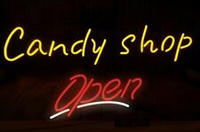 "Candy Shop Open Neon Sign Light Beer Bar Gift 24""x16"" Lamp Decor Glass"