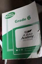 Abeka Grade 6 Video Manual Curriculum Middle school homeschool