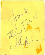 Tony Jackson The Searchers + Frank Renshaw The Toggery Five signed autographs