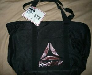 REEBOK STREET  TOTE  BAG   Black  NEW