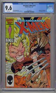 UNCANNY X-MEN #213 CGC 9.6 WOLVERINE VS. SABRETOOTH WHITE PAGES (8016)