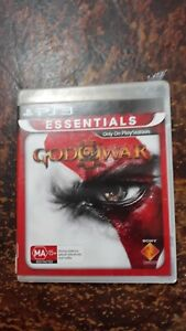 PS3 GAME GOD OF WAR 3 WITH MANUAL V GD COND FAST POST