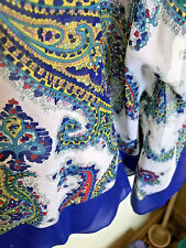 Talbot's 100% Printed Silk One Size fits All  S M L