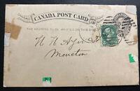 1894 St John NB Canada Postcard Stationery Cover Potts & Co