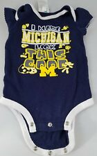 Infant Unisex RUSSELL ATHLETICS Blue Yellow Michigan Romper Stretch 6-9 Months