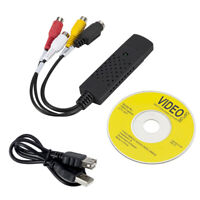 PC USB 2.0 VHS Tapes Tape to DVD VCR Audio Video Converter Capture Card Adapter