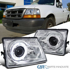 For Ford 98-00 Ranger Pickup Clear Projector Headlights w/ Halo Rim Left+Right