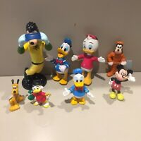 Disney Mickey Mouse Vintage figure bundle job Lot Pluto Goofy Duck Tails