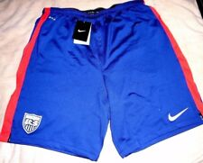 "UNITED STATES of AMERICA ""NIKE STADIUM"" BLUE/RED USA SOCCER SHORTS MEN'S XL $60"