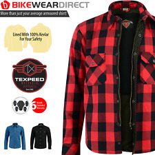 Motorbike Motorcycle Lumberjack Shirt CE Biker Armour Made With KEVLAR Aramid
