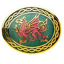 Enamel Welsh Dragon Scarf Pin / Brooch (7550)