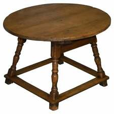 VERY RARE CIRCA 1780 COUNTRY HOUSE PINE ROUND DINING TABLE LARGE SINGLE DRAWER