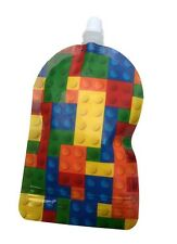 NEW My Lil Pouch Lego Brick 140ml 5 Pack Food Reusable Baby Kids Infant BPA Free