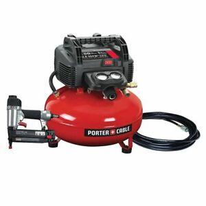 22.7 L 150 PSI Portable Electric Air Compressor & 18-Gauge Brad Nailer Combo Kit