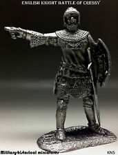 English knight Tin toy soldier 54 mm, figurine, metal sculpture