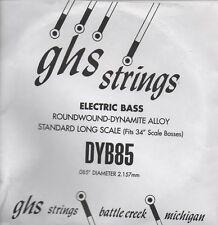 Corde basse 1 corde GHS-DYB85 - à l'Unité - ROUNDWOUND - DYNAMITE ALLOY