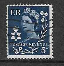 GB REGIONAL ISSUE N. IRELAND USED WILDING STAMP - 5d - BLUE DEFINITIVE 1958-1972