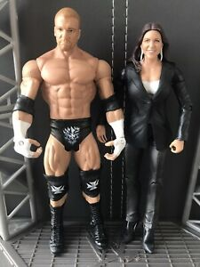 Wwe mattel figure bundle Stephanie McMahon HHH The Authority Triple H Wwf
