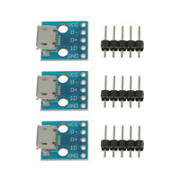 3pcs USB Type B Female Connector Breakout Charging Charger Board Module 5V