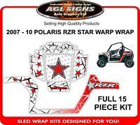 2007 2008 2009 2010 POLARIS RZR 800 STAR WARP KIT GRAPHIC WRAP DECALS