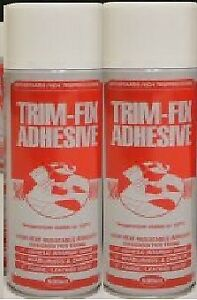 2x Cans Trimfix High Temp Spray Adhesive 500ml Tins - SPECIAL OFFER !!