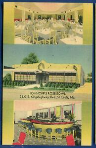 Johnoff's Rose Bowl Restaurant Kingshighway Blvd St Louis Missouri mo postcard