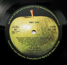 The Beatles - Abbey Road - UK 1974 Press -2/-2U Apple Cutting LP & Rare Cover