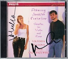 Viktoria MULLOVA & Piotr ANDERSZEWSKI Signed DEBUSSY JANACEK PROKOFIEV Violin CD