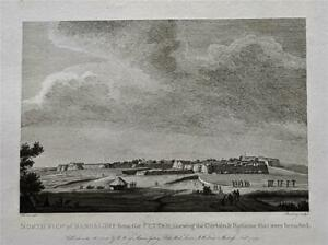 NORTH VIEW OF BANGALORE FORT, MYSORE, INDIA by Robert Home, Rare 1794 Engraving