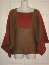 WOODEN SHIPS ANTHROPOLOGIE MOHAIR WOOL KIMONO SLEEVE SWEATER~SM / MED