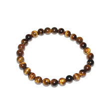 Natural Colorful Tiger's Eye Stone Round Beads Stretchy Bracelet Bangle Gift 6mm#yellow