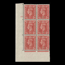 Great Britain 1941 (MNH) 1d Pale Scarlet no control, cylinder 174 block