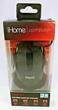 iHome Computer Classic Corded Optical Mouse - Black