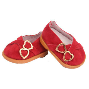 Red Double Heart Shoes Fits 18 Inch American Girl Dolls-Kennedy and Friends