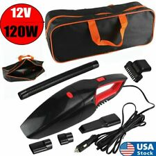 120W Car Vacuum Cleaner 12V Auto Mini Portable Wet Dry Handheld Duster w/ Bag