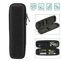 Black Hard Shell Black Pen Pencil Case Holder Pouch Stationery Makeup Bag Box