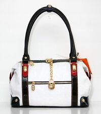 Marino Orlandi Italian Designer White Croc Leather Purse Large  Handbag NWT